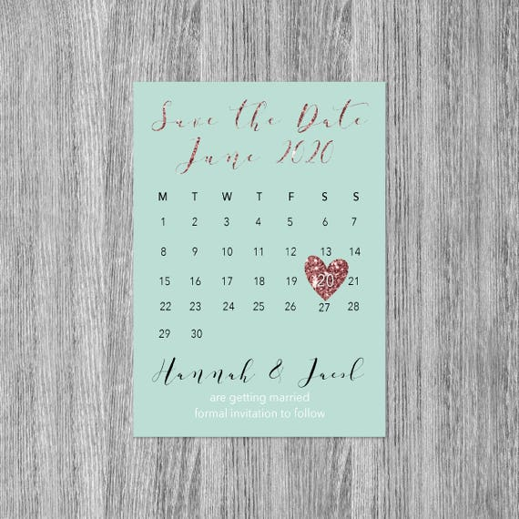 Rose gold save the date magnet, Save the date wedding magnets, Calendar save the date, Save the date invitations, Magnetic Save the date, A6