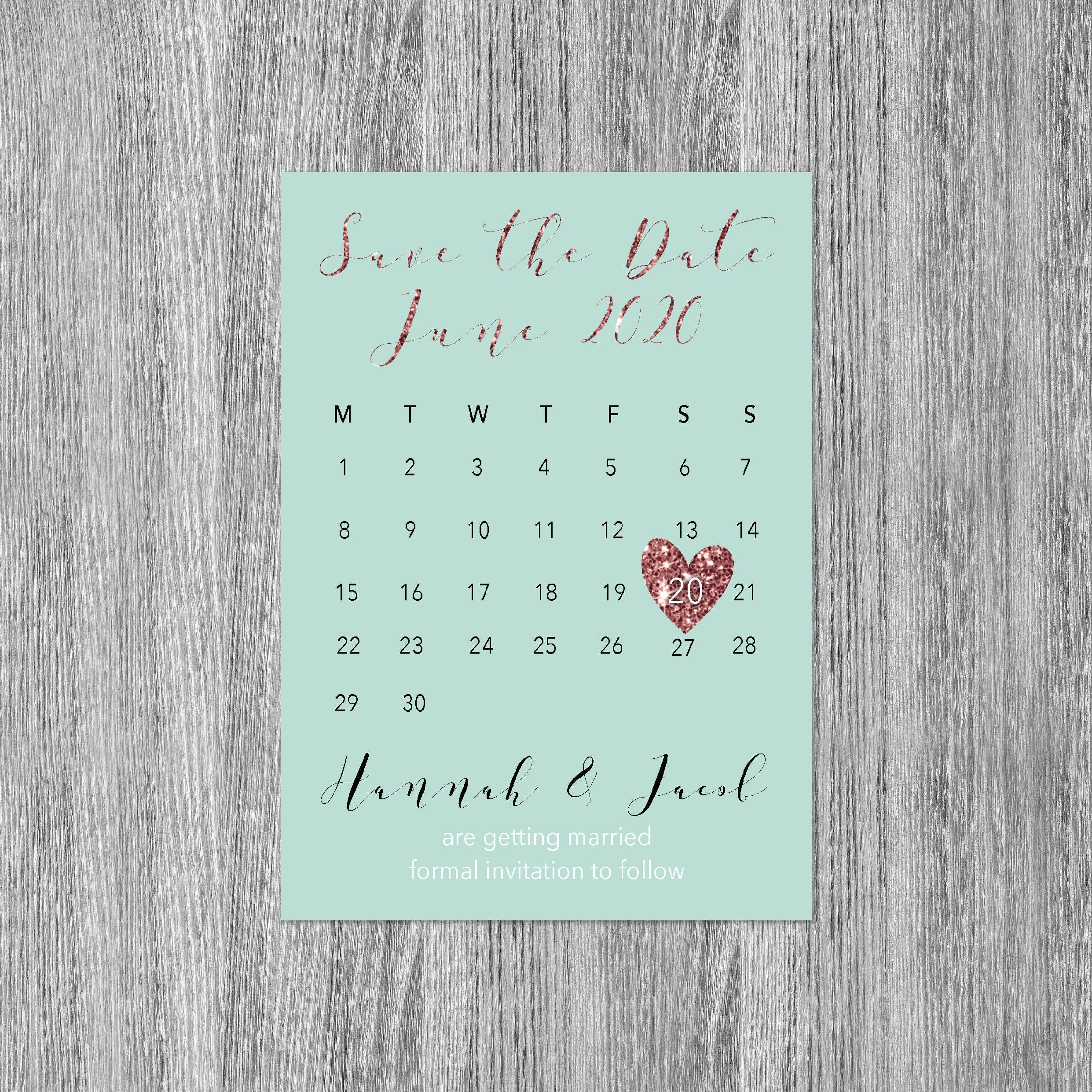 Rose gold save the date magnet, Save the date wedding magnets ...