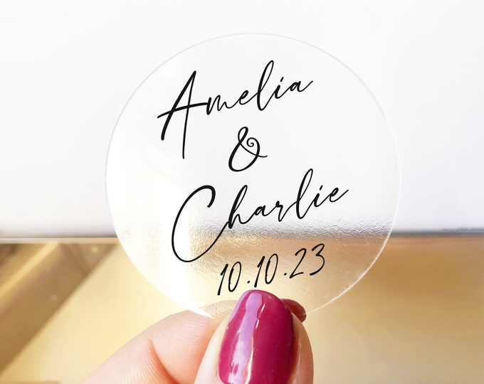 Personalized custom name gift wedding labels stickers, Invitation Envelope Seals, Thank You Card Labels, Wedding Favor Tags