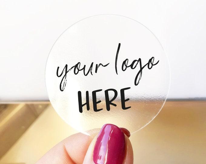 Custom business waterproof clear logo labels stickers, Clear Business Logo Labels, Personalized business logo stickers