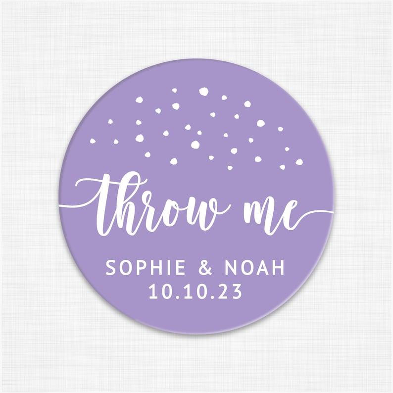 Wedding favor sticker labels Toss me stickers Wedding stickers for favors Wedding confetti stickers for confetti bags wedding favor tags