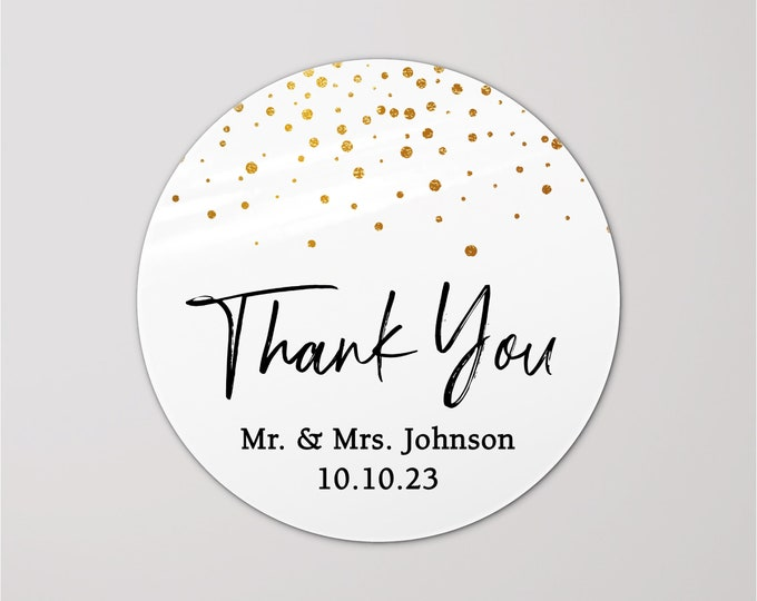 Custom wedding birthday thank you stickers tags, Personalized party favor stickers, Graduation thank you labels, Thank you stickers