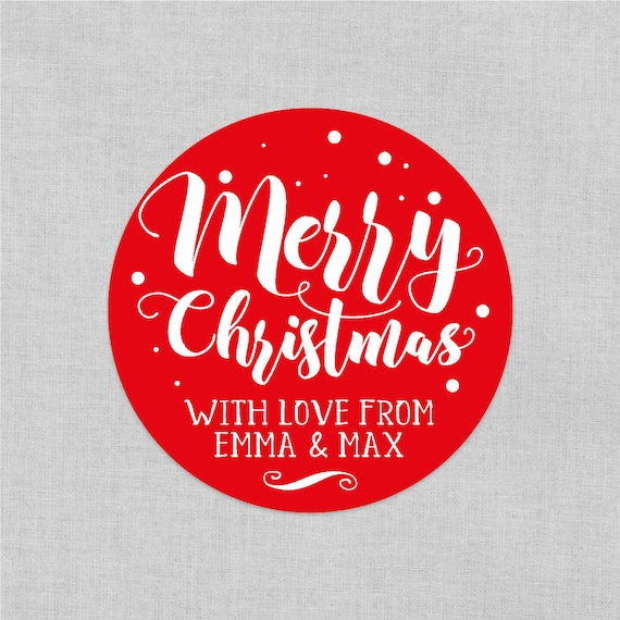 Custom christmas stickers, Personalized Holiday Gift Tags, Personalized Christmas Labels, Holiday Label, Round Labels, Xmas gift