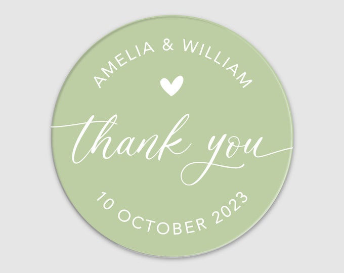 Personalized wedding thank you tags favor stickers, Custom wedding favor labels, Party favor stickers round stickers