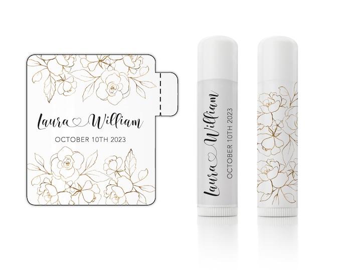 Custom lip gloss balm waterproof stickers labels wedding favor sticker sheet, Personalized sticker sheet - 12 Stickers Per Sheet