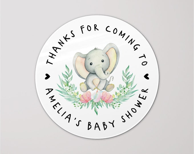 Thank you for coming to my baby shower stickers, Baby shower labels, Personalised party favor stickers, Mason jar stickers
