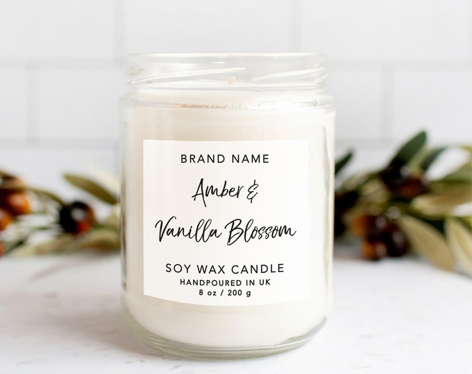 Candle label design candle branding candle sticker labels, Homemade candle product label, Personalized candle custom labels