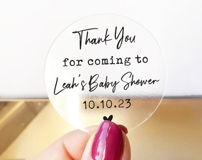 Thank you for coming to my baby shower stickers, Baby shower labels, Personalised party favor stickers, Mason jar kraft sticker