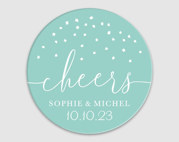 Custom wedding thank you gift name labels stickers, Personalized round sticker, Thank you favour stickers, Party name stickers