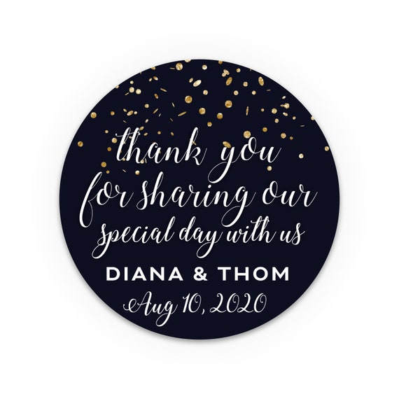 Thank You Stickers, Wedding favors for guests, Wedding favours, Custom stickers, Cheap wedding favors, Labels for jars, Goody bag sticker