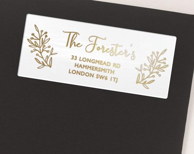 Return address stamp, Return address labels stickers, Personalised gift, Address stickers, Wedding Gift  - 30 Stickers per Sheet
