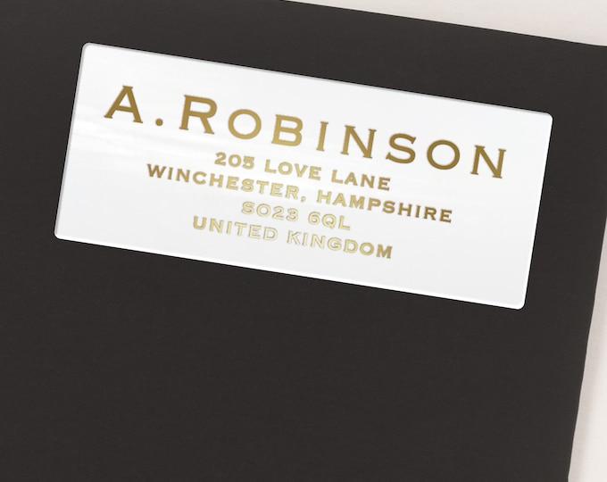 Custom return address envelope mailing labels stickers, Personalised gift, Address labels - 30 Stickers per Sheet