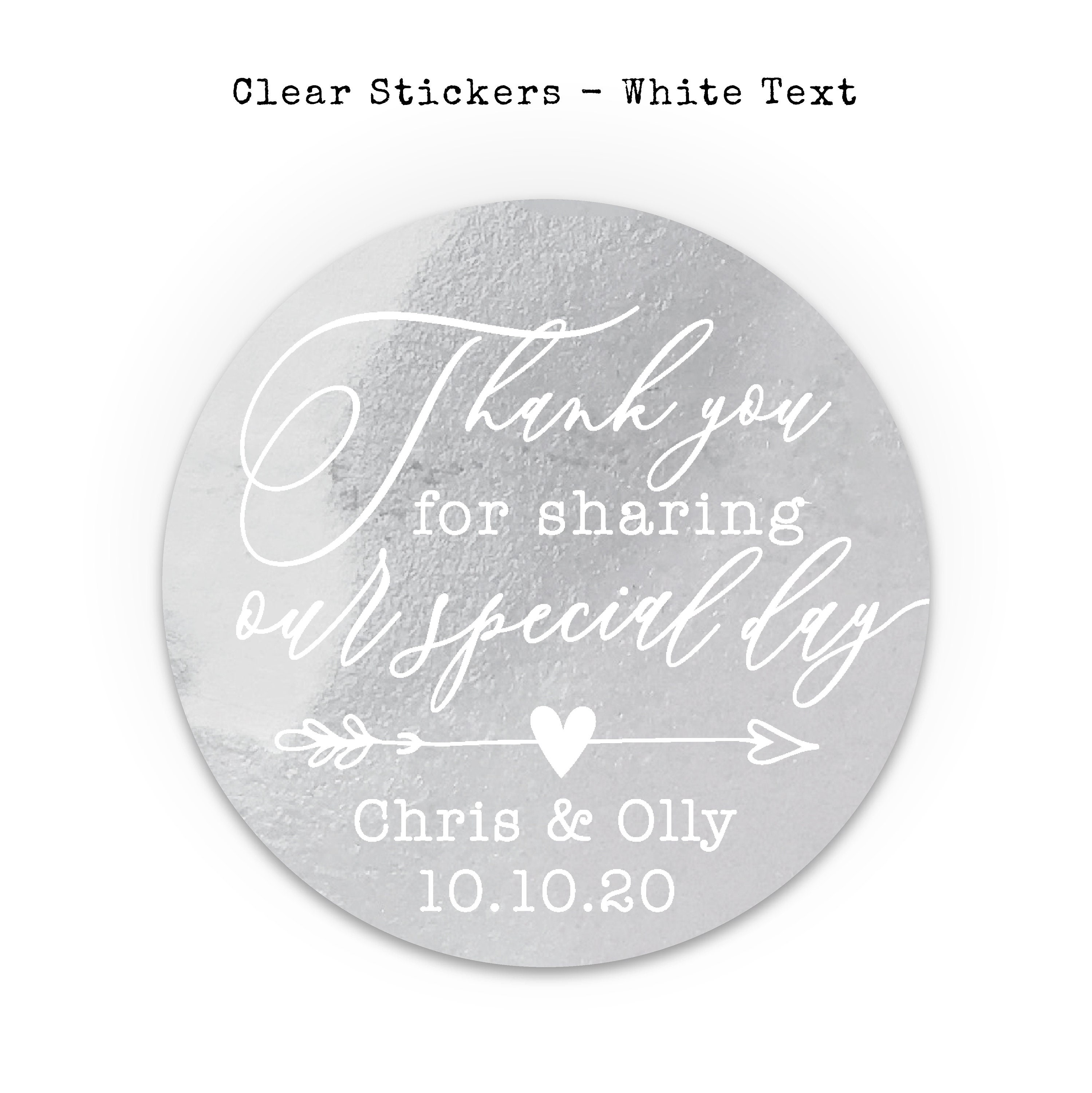 Clear stickers personalised transparent stickers wedding custom sticker labels