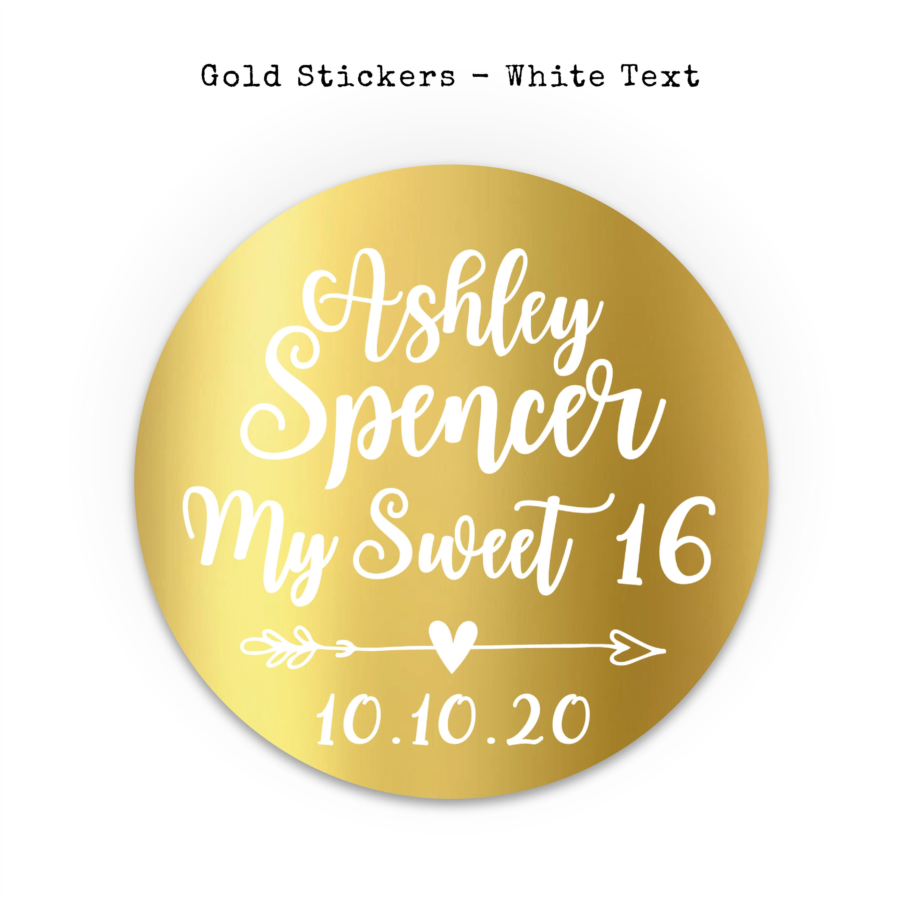 Thank you stickers custom stickers sweet sixteen stickers party