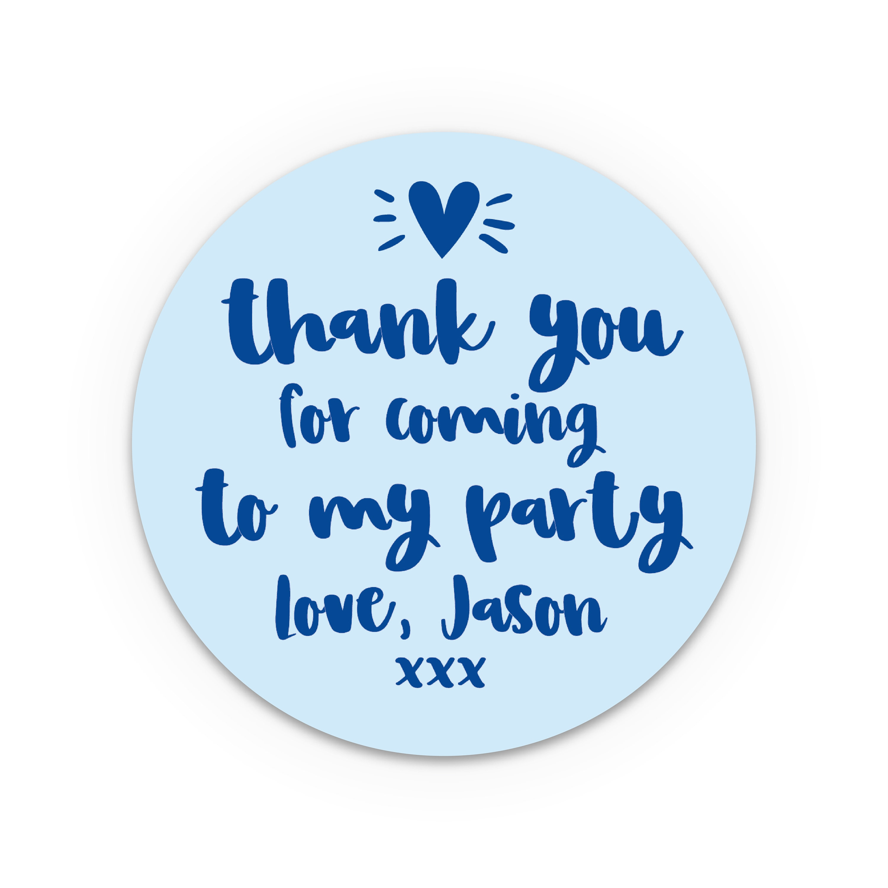 Personalised Stickers Birthday Thank You For Coming To My Party Favor Bags Labels Parties