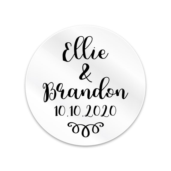 Transparent custom stickers, Personalized stickers, Personalised labels stickers, Wedding favor sticker, Wedding favors for guests, Labels