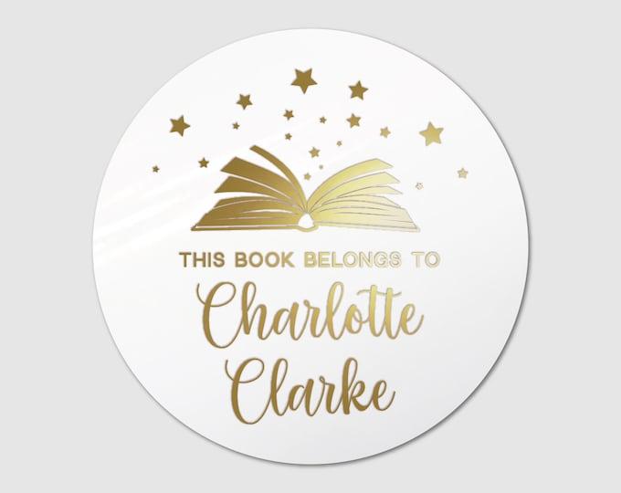 Custom book lover teacher birthday gift for her stickers sheet, Personalized sticker sheet, Book club decal, Round teacher stickers