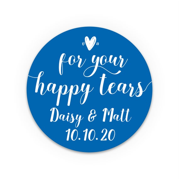 For your happy tears stickers, Happy Tears Labels, Wedding favors for guests, Wedding favours, Custom stickers, Wedding Ceremony Favors,