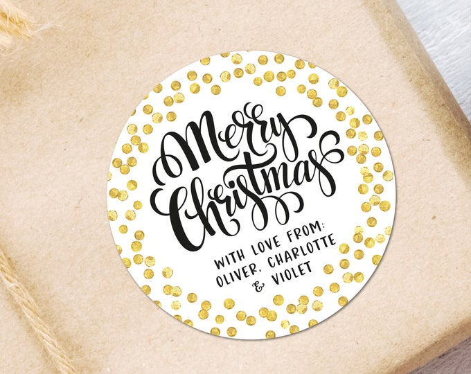 Gift Tags Envelope Name Stickers Gift Wrapping Topper Favors Merry Christmas Stickers Personalised Christmas Stickers Gift Wrapping Ideas