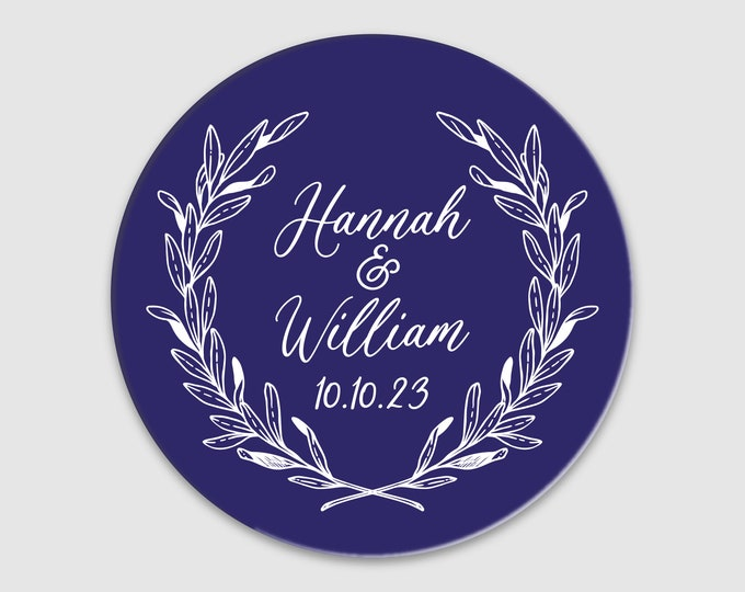 Wedding thank you stickers personalised labels, Custom stickers round labels, Thank you wedding  labels, Welcome sticker