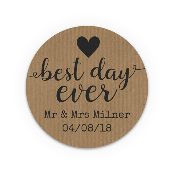 Rustic, Wedding favours for guests, Personalised stickers wedding, Wedding Favor Labels, Wedding Welcome, Best day ever, Thank you stickers