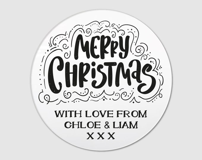Personalized Custom Merry Christmas Holiday stickers Holiday Marry Christmas stickers labels Merry Christmas stickers Gift stickers
