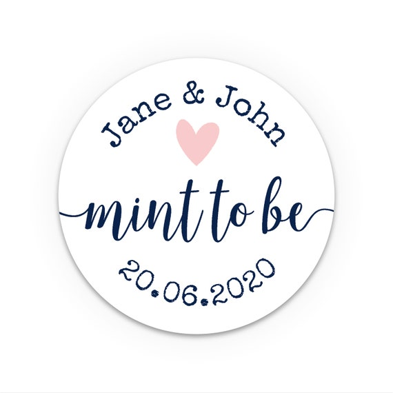 Wedding favor labels personalized, Mint to be stickers, Personalised mint to be wedding favor, Bachelorette party favors, Hen party favour