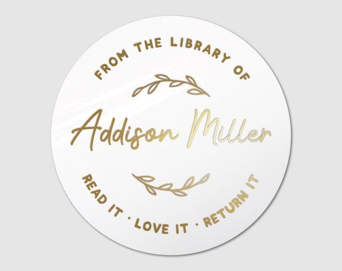 Custom book lover gift book teacher name stickers sheet, Personalized sticker sheet, Book club decal, Round teacher stickers