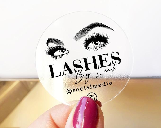 Business instagram lash logo design stickers custom logo sticker, Eyelash extension label design logo sticker, Eyelash logo sticker