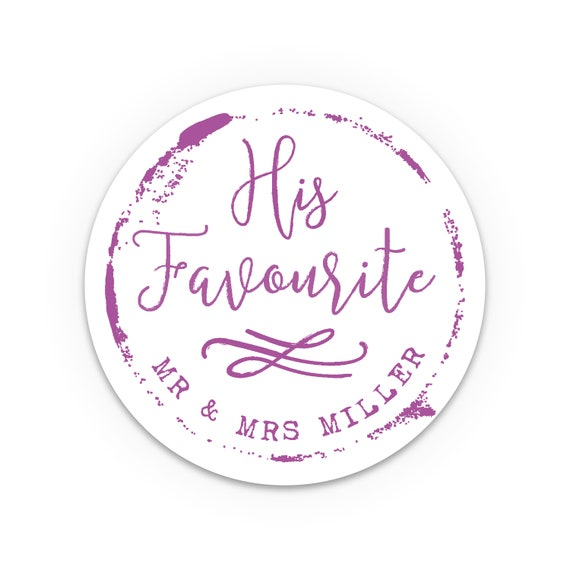 His and her stickers, Wedding favours, Custom stickers, Wedding favors for guests, Thank You Stickers, Cheap wedding favors, Personalised