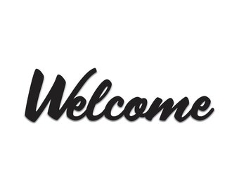 Welcome | Word Art Cutout | Wall Art | Wall Decor | Home Decor