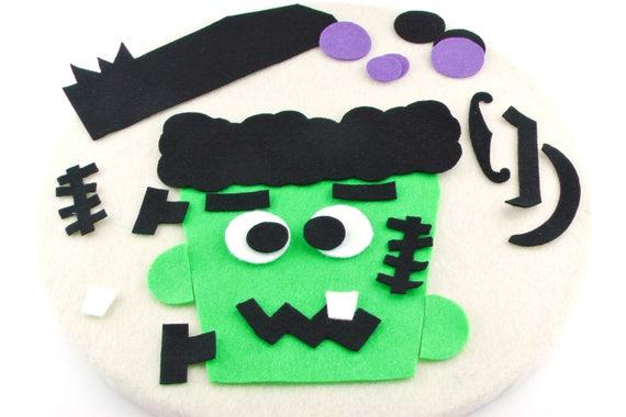 Cute Frankenstein felt board set