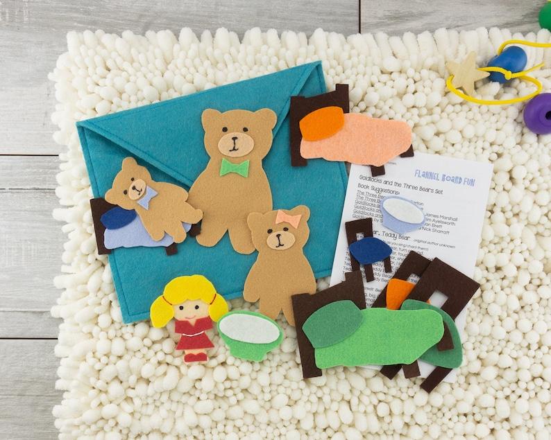 Goldilocks and the Three Bears Felt Board Quiet Activity image 0