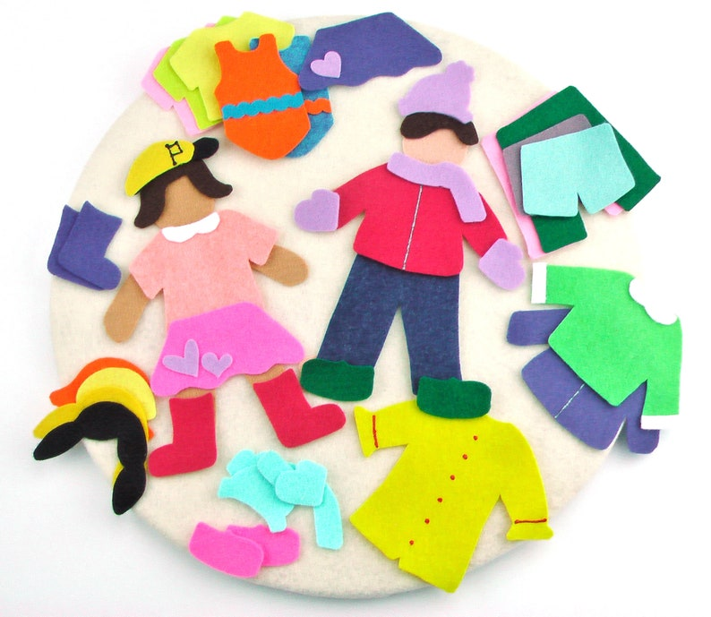 Felt Board Paper Dolls Clothes Set For Preschool Or