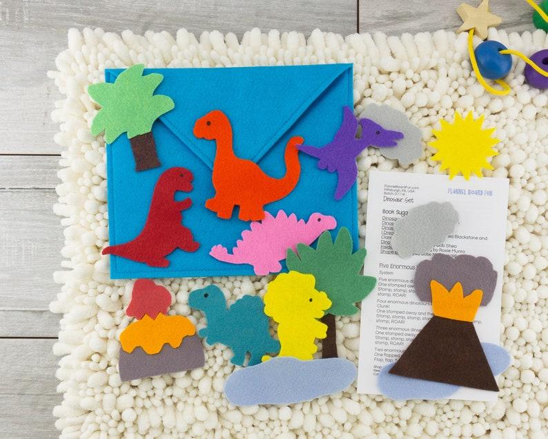 Felt Board Story Dinosaur Quiet Activity & Birthday Gift for image 0