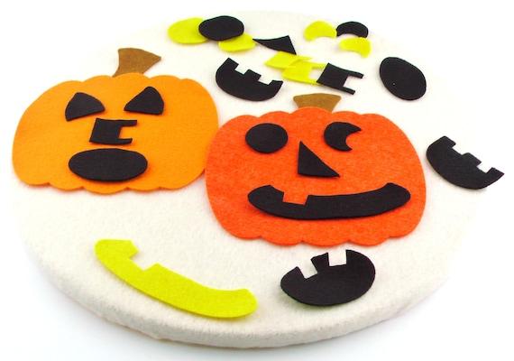 cute Halloween pumpkin felt board set