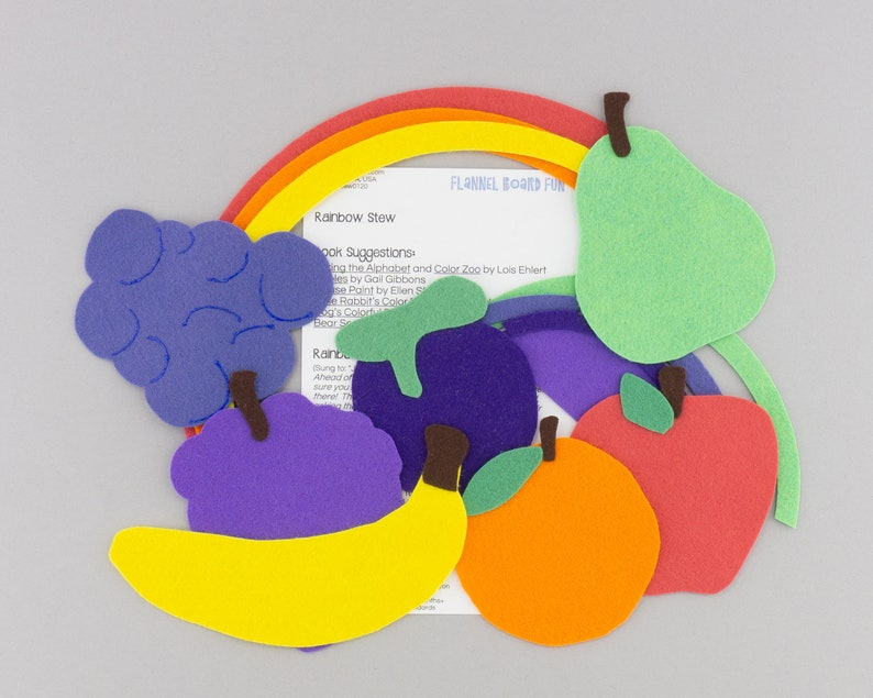 Felt Board Stories Rainbow Stew Flannel Board Preschool Circle Time or Library Storytime Song Kindergarten Flannel Board Song