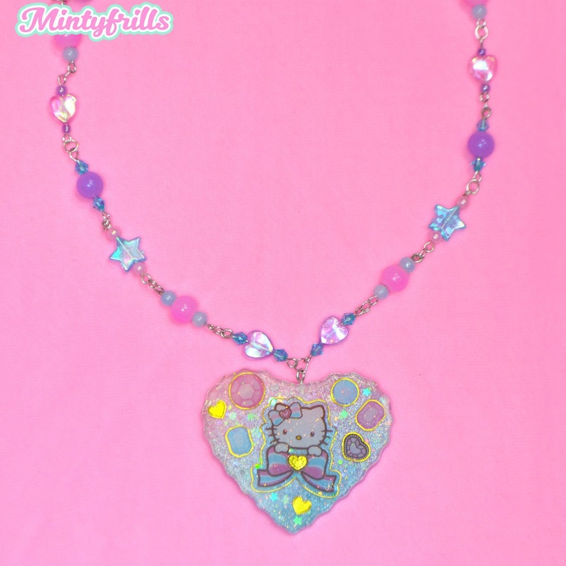 Sweet Crystal Hello Kitty Necklace