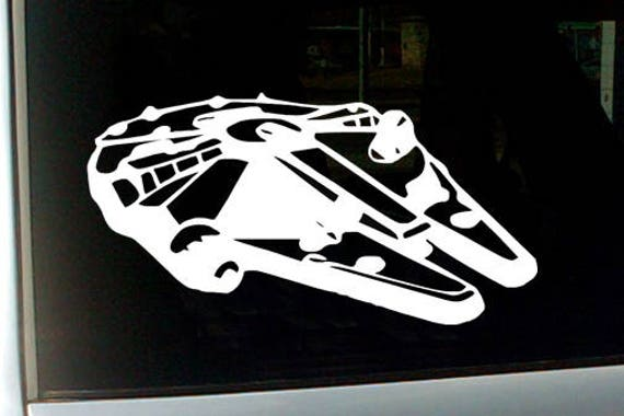 star wars millennium falcon car decal millennium falcon. Black Bedroom Furniture Sets. Home Design Ideas
