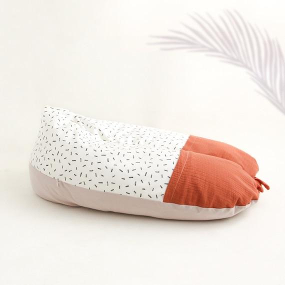 Raw terracotta lactation cushion