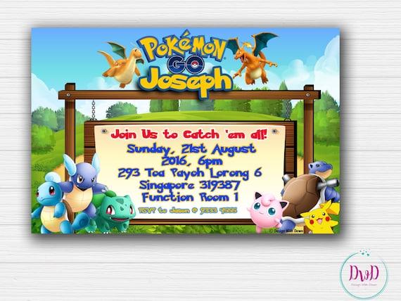 Pokemon Go Birthday Invitation Printable Invites