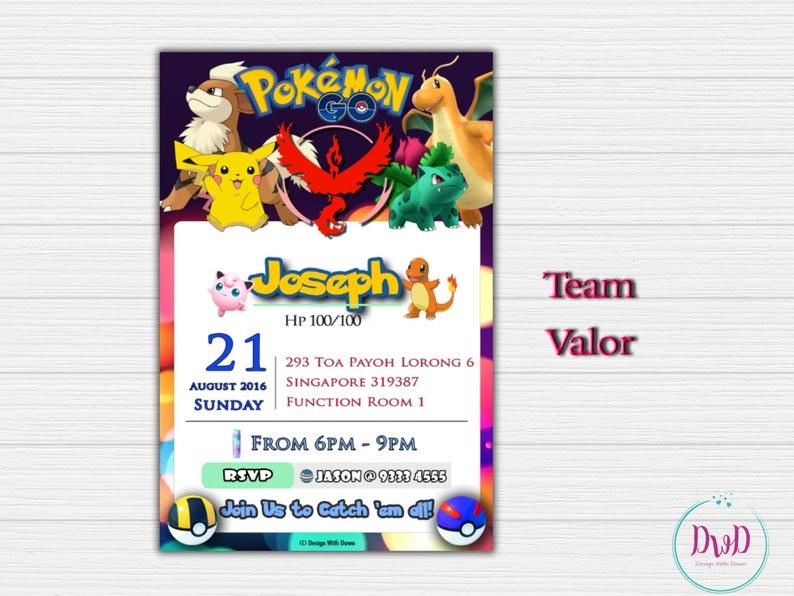 fd8a5eb574 Invito compleanno Go Pokemon Pokemon Go invito Pokemon | Etsy