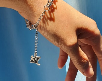 Manta Ray Bracelet, Stainless steel Manta Ray Lover Accessories Jewellery, Ocean Life Lover, Conservation Bracelet, gift for divers under 50
