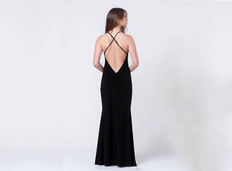 meet e42e2 1bf2a Abschlussball Kleid, schwarze Maxi-Kleid, Sexy Schlitz Kleid,  Cocktailkleid, langen, eleganten Kleid, lange Abendkleider rückenfrei Prom  Kleid ...