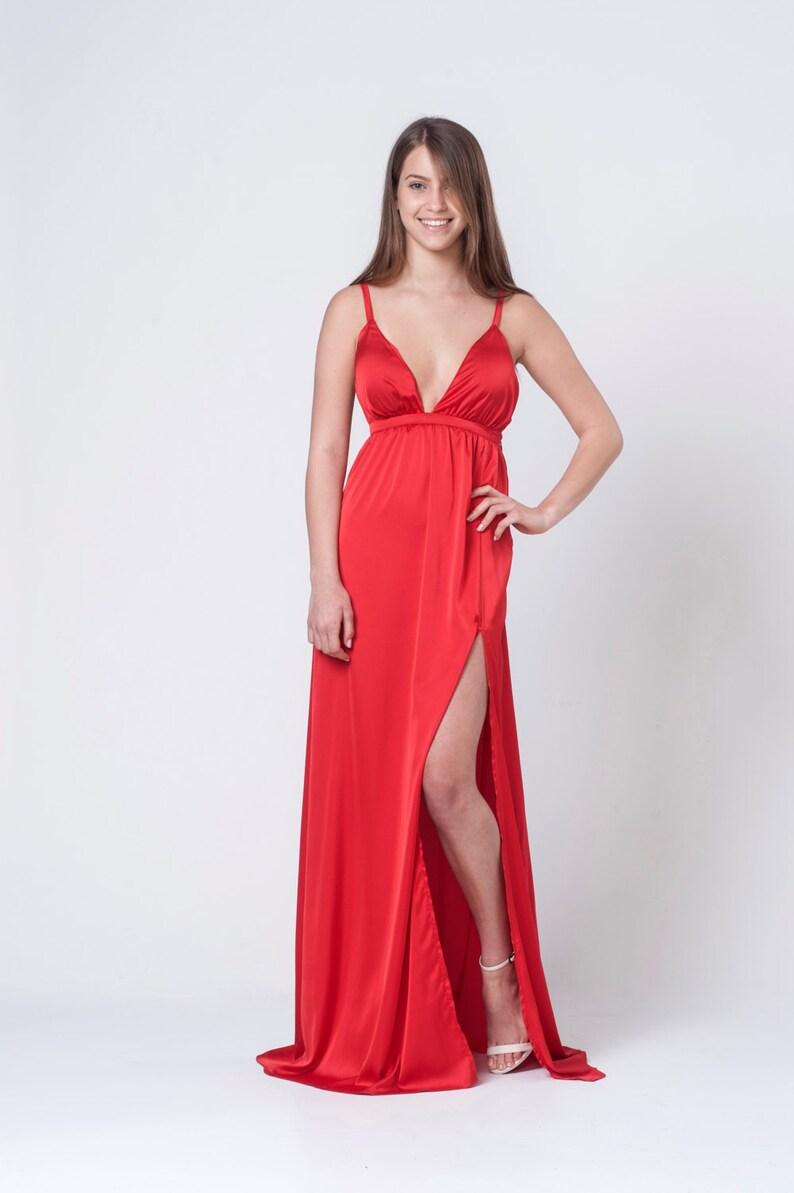 73614c1052bd Vestito donna vestito rosso vestito da partito vestito da