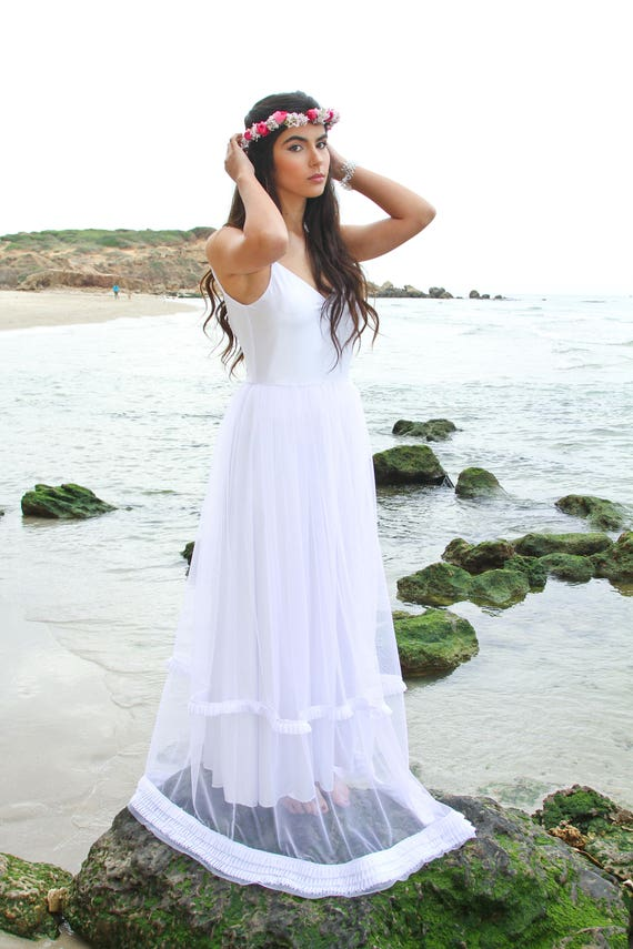 Bridal Dress White Dress Gown Wedding Wedding Dress White Wedding Dress Wedding Dress Tulle Long Dress Wedding Wedding Beach Boho P4ZqxwPRg