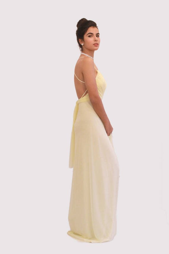Bridesmaid Dress, Long Prom Dress, Maxi Dress, Long Dress, Yellow Party Dress, Yellow Party Dress, Open Back Dress, Yellow Evening Dress