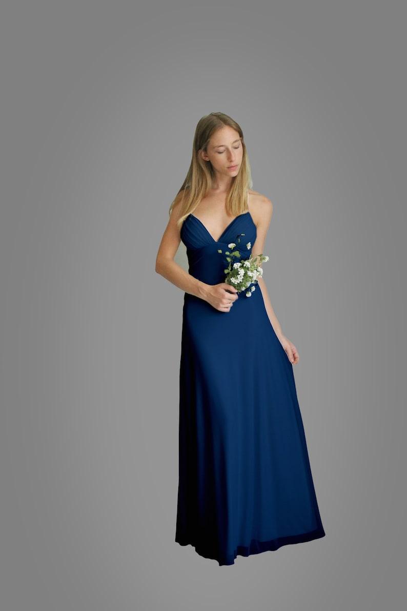 581320a8b6a Navy Blue Dress Maxi Dress Long Dress Bridesmaid Dress