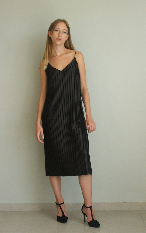 Black Dress Black Evening Dress Midi Dress Sleeveless Etsy