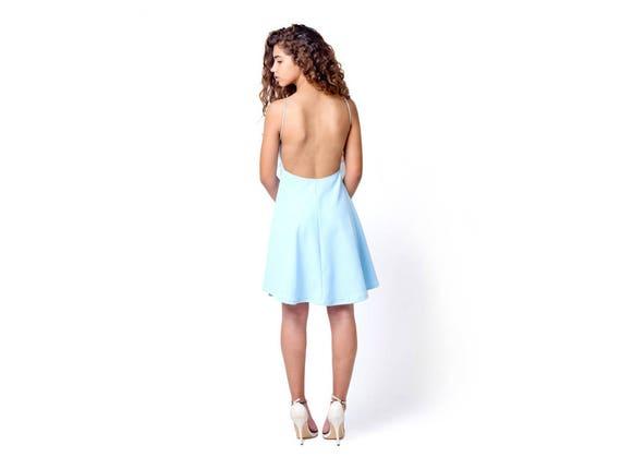Kurzes Kleid Partei Prom Licht blau Brautjungfer Kleid   Etsy